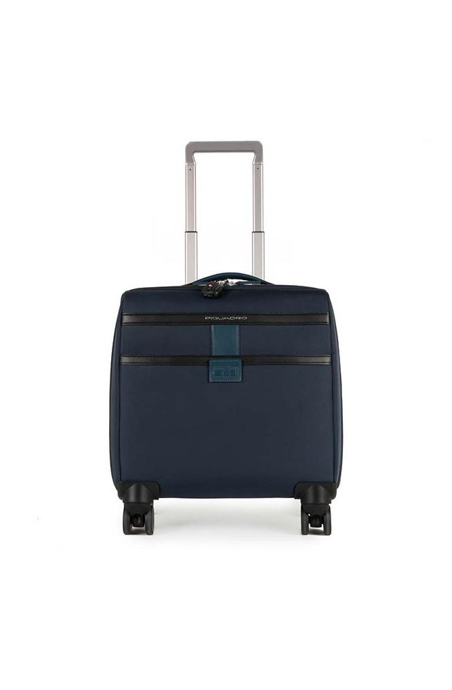 Trolley PIQUADRO Orion pelle e tessuto Blu business - CA3798W74-BLU