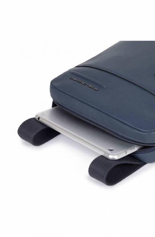 PIQUADRO Bag Akron Male Blue customizable - CA1816AO-BLU