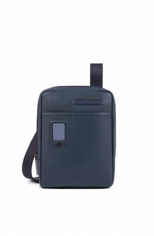 PIQUADRO Bag Akron Male Leather Blue customizable - CA3084AO-BLU