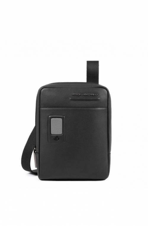 PIQUADRO Bag Akron Male Leather Black customizable - CA3084AO-N