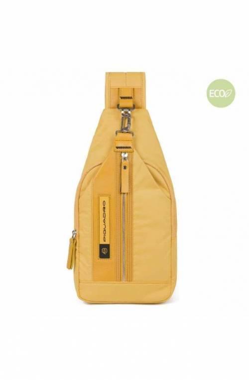 PIQUADRO Bag PQ-Bios Mono sling yellow - CA4536BIO-G