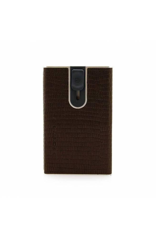 PIQUADRO porta tarjetas de crédito Hombre Cuero marrón - PP4891SOR-BRLIZ