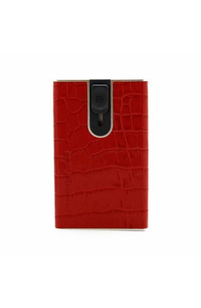 Porta carte di credito PIQUADRO Uomo Pelle Rosso - PP4825SOR-ROCO