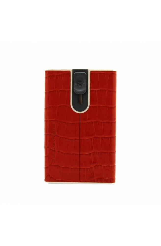 PIQUADRO porta tarjetas de crédito Hombre Cuero Rojo - PP4891SOR-RCO