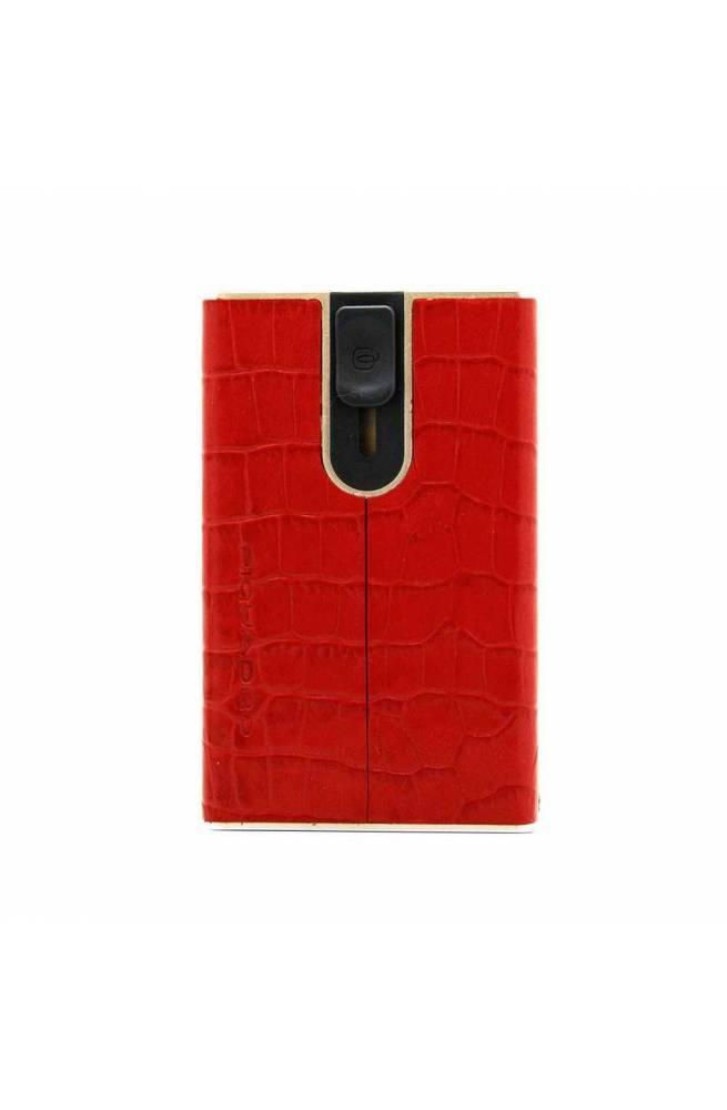 Porta carte di credito PIQUADRO Uomo Pelle Rosso - PP4891SOR-ROCO