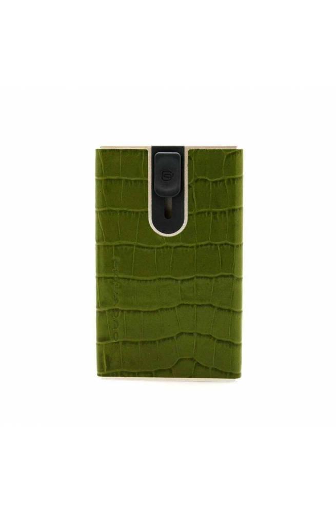 PIQUADRO porta tarjetas de crédito Hombre Cuero Verde - PP4825SOR-VECO