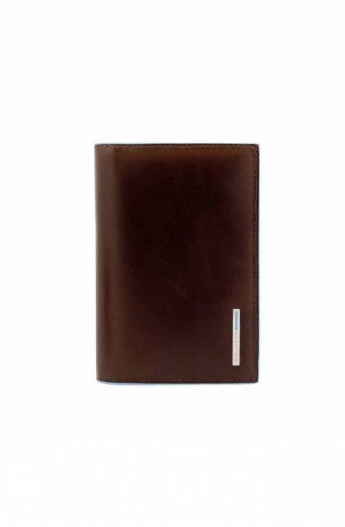 Porta passaporto PIQUADRO Blue Square Pelle mogano PP5255B2-MO