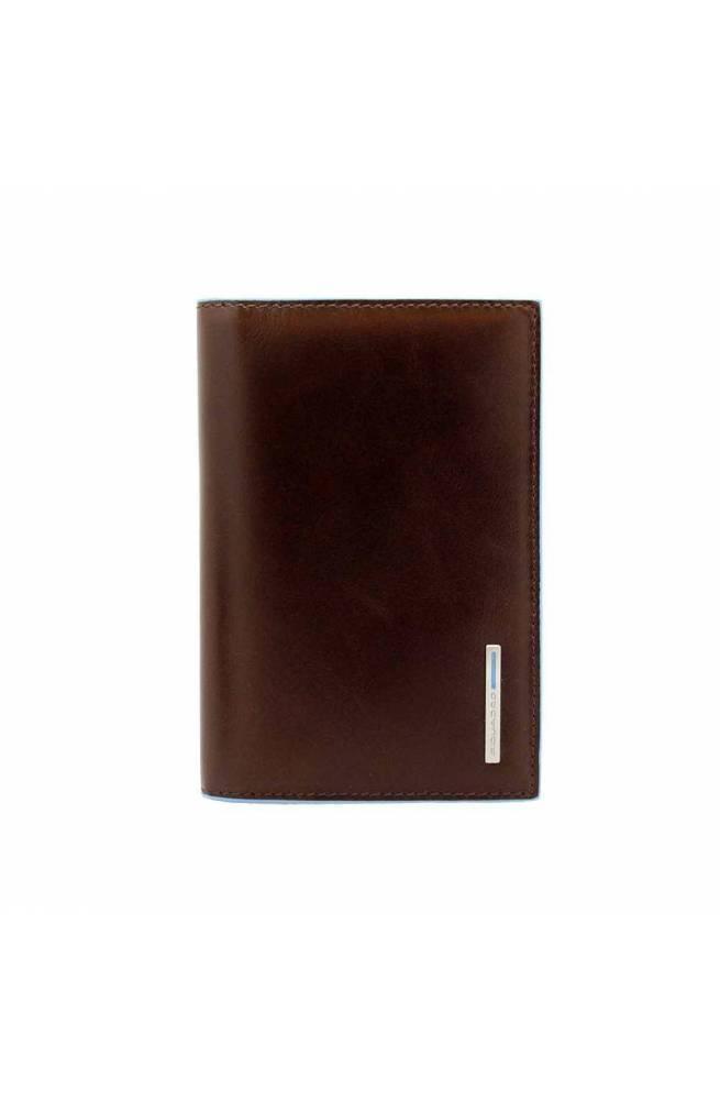 PIQUADRO Porta pasaporte Blue Square Piel marron PP5255B2-MO