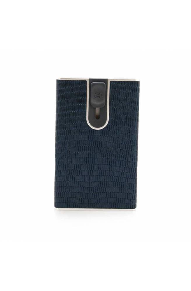 PIQUADRO Cardholder Male Blue Leather - PP4825SOR-OTLIZ
