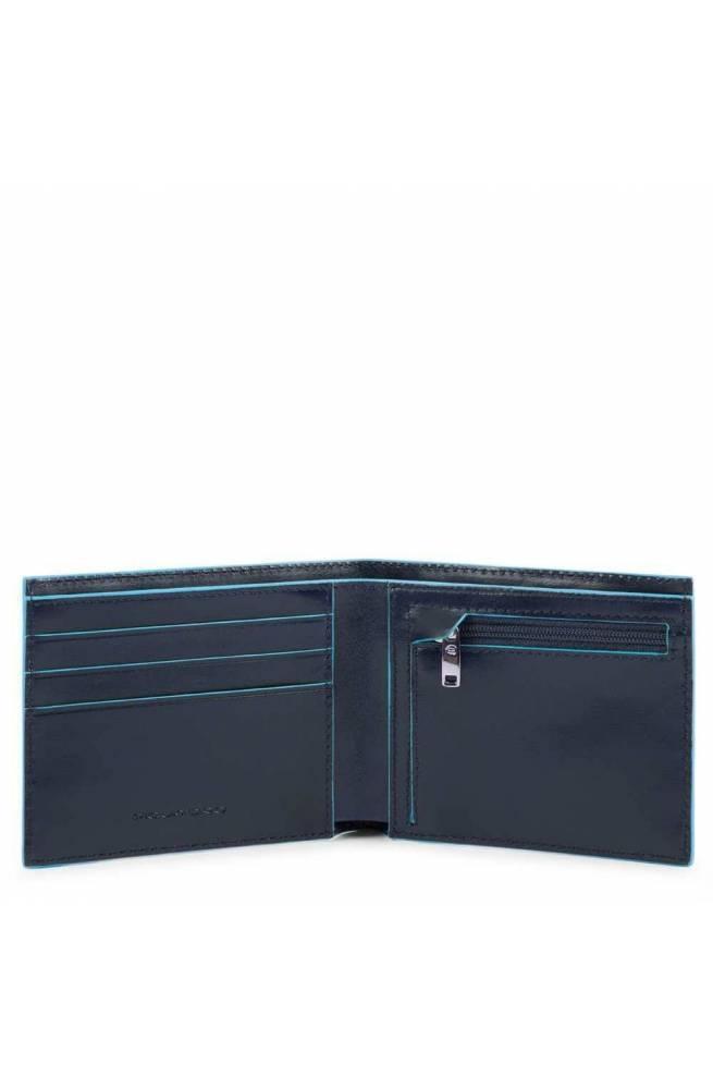 Portafoglio PIQUADRO Blue Squar Uomo Pelle Blu - PU4823B2R-BLU2