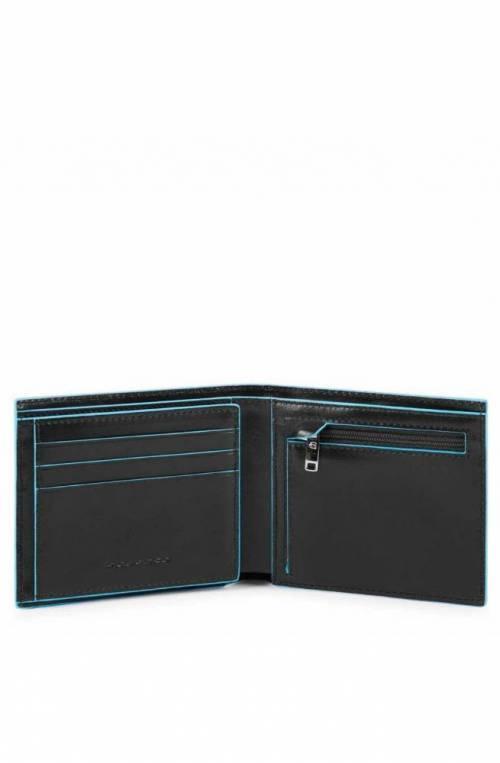 PIQUADRO Geldbörse Blue Square Leder Schwarz - PU5185B2R-N