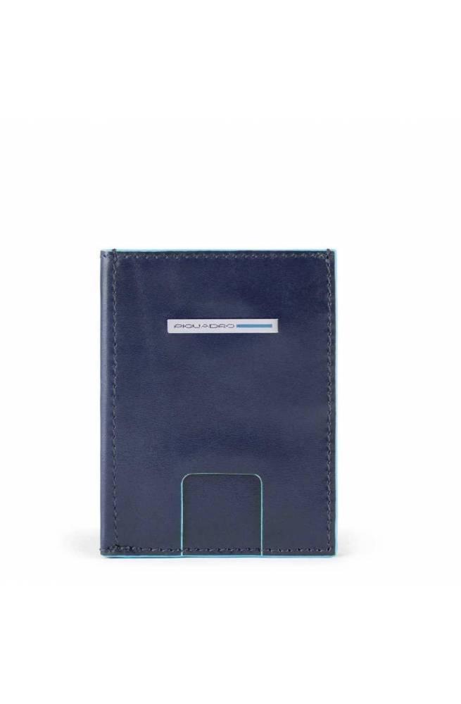 PIQUADRO Geldbörse Blue Square Herren Leder Blau - PU5203B2R-BLU2