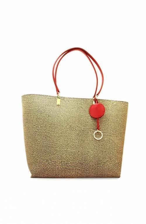 BORBONESE Bolsa Mujer Natural/rojo - 924243-781-X15