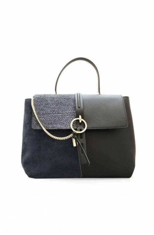 BORBONESE Bolsa ETOILE Mujer Cuero Negro-azul - 924470-749-W44