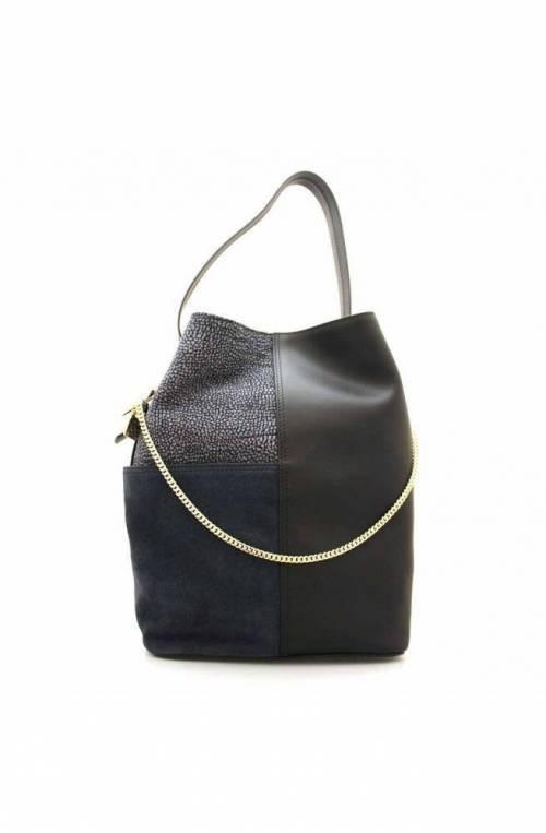 BORBONESE Bolsa ETOILE Mujer Cuero Negro-azul - 924473-749-W44