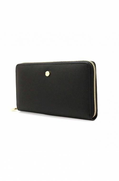 BORBONESE Wallet Female Leather Black - 930111-I61-100