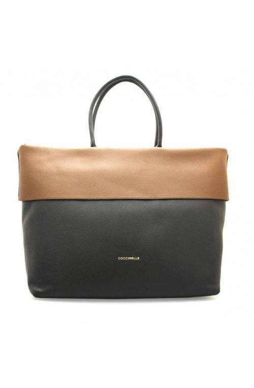 COCCINELLE Bolsa 25 Mujer Cuero Negro Marrón - E1GB0180101651