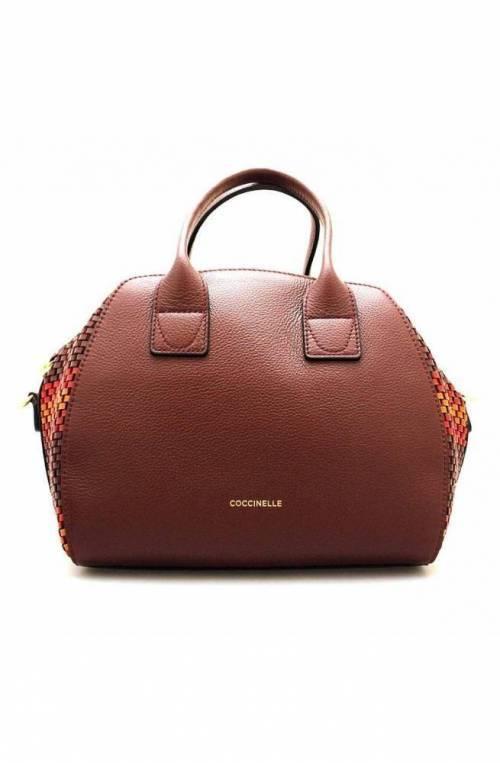 COCCINELLE Bag CONCRETE JOURNAL TRESSE Female Leather Marsala - E1GLI180401M93