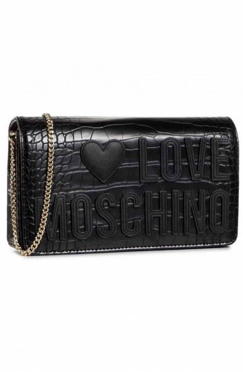 LOVE MOSCHINO Bolsa CROCO Mujer Negro - JC4063PP1BLH100A