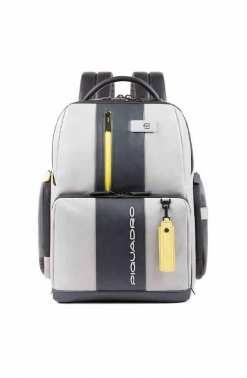 PIQUADRO Backpack Urban Leather Gray yellow - CA4550UB00BM-GRGR