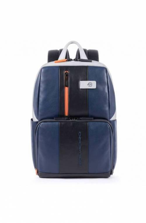 PIQUADRO Backpack Urban Male Leather Blue-grey - CA3214UB00-BLGR