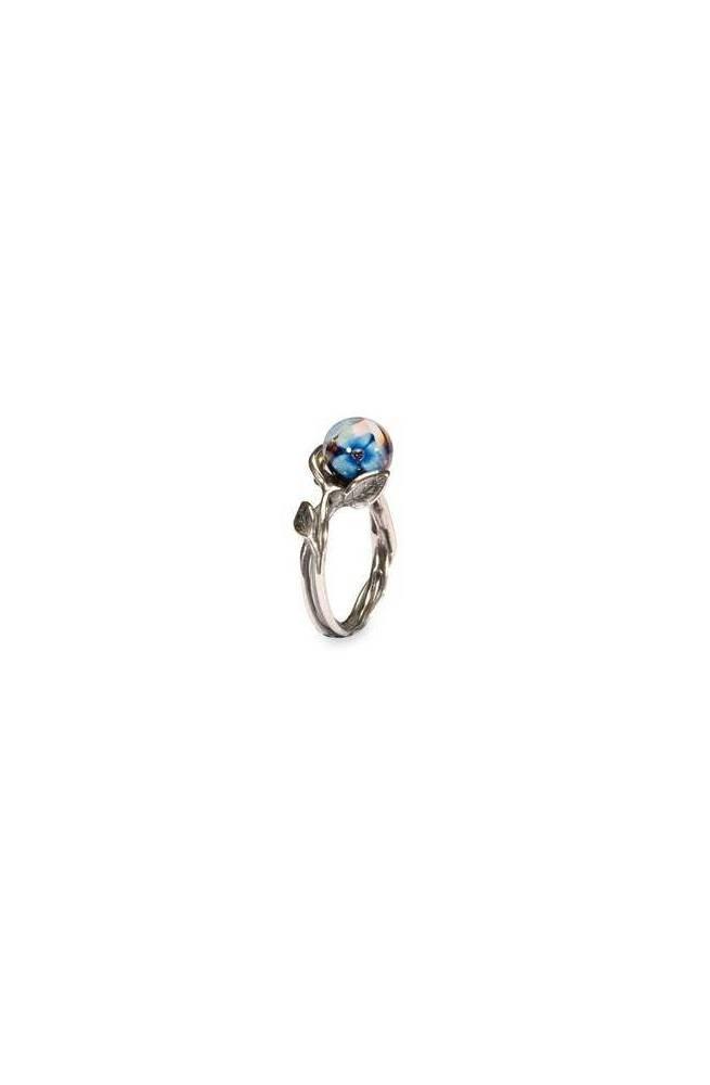 Trollbeads Anello con Fiore Blu R6107-59