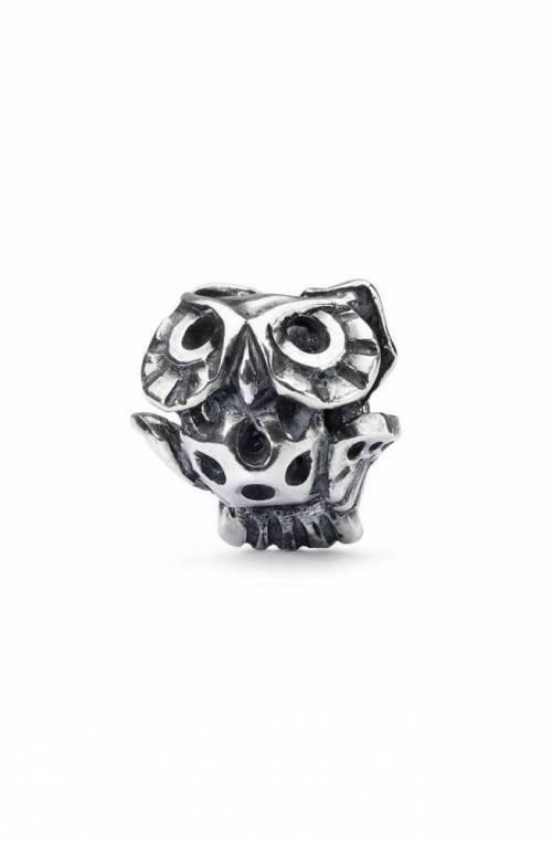 TROLLBEADS Silver Bead Wise Owl Bead TAGBE-30140