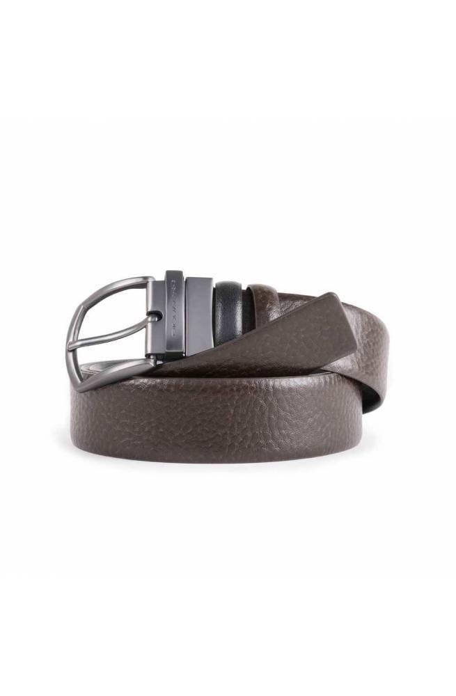 Cintura PIQUADRO Uomo Pelle Marrone-Nero - CU4564C42-N2M2