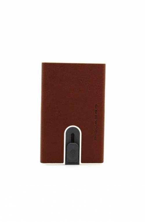 PIQUADRO Cardholder Black Square Male Leather - PP5358B3R-CU