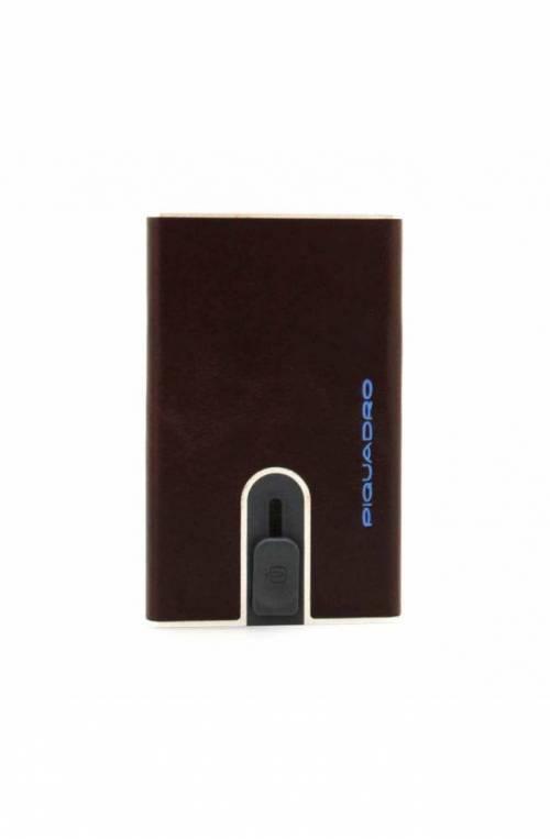 PIQUADRO Cardholder Square Blu Male Mahogany - PP5358B2R-MO