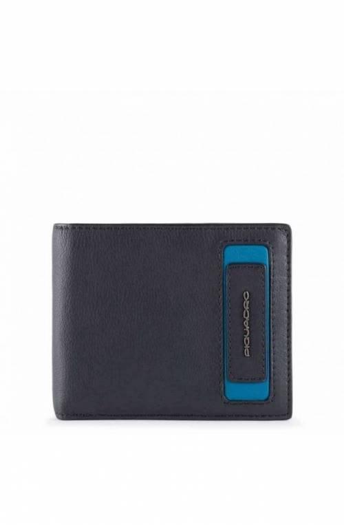 PIQUADRO Wallet Dioniso Leather Blue - PU4823W103R-BLU