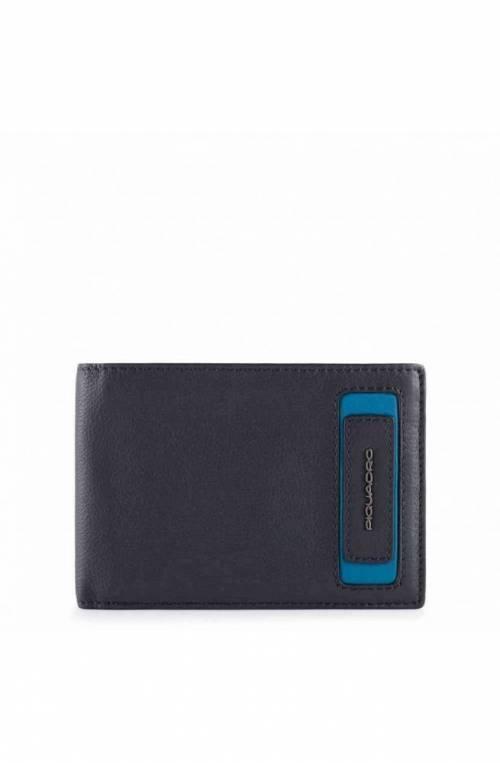 PIQUADRO Wallet Dioniso Male Leather - PU257W103R-BLU