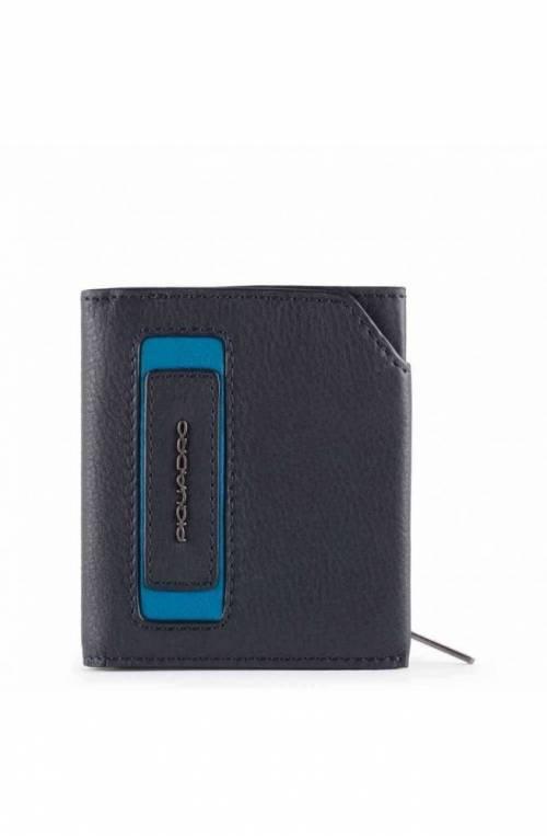 PIQUADRO Wallet Dioniso Male Leather Blue - PU5114W103R-BLU