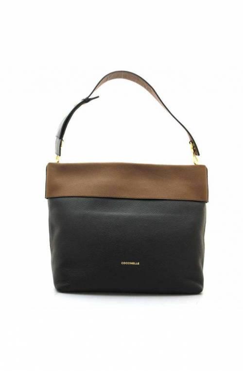 COCCINELLE Bag 25 Female Leather Black Brown - E1GB0130201651