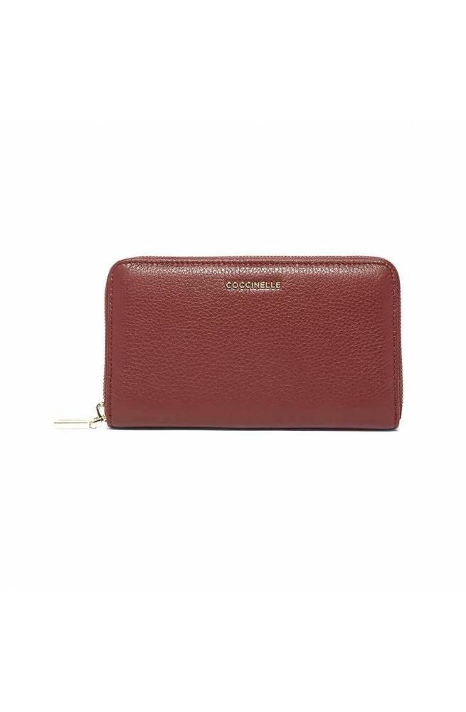COCCINELLE Wallet METALLIC SOFT Female Leather Marsala - E2GW5113201R22
