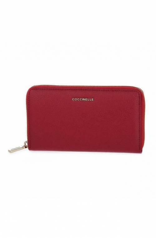Portafoglio COCCINELLE METALLIC SOFT Donna Pelle Rosso - E2GW5113201R62