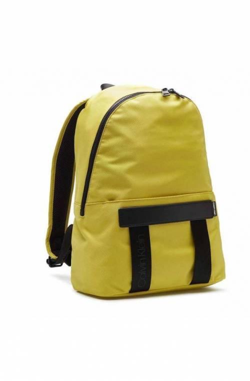 CALVIN KLEIN Backpack NASTRO LOGO Male Lemon yellow - K50K505669LAF