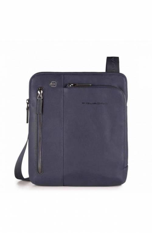 PIQUADRO Bag BLACK SQUARE Male Pocketbook Leather Blue - CA1816B3-BLU4