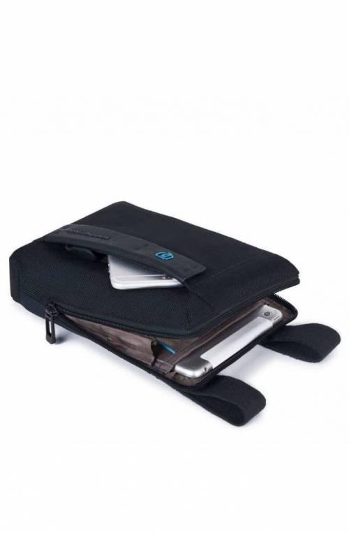 PIQUADRO Bag P16 Male Pocketbook chevron/Blue - CA3084P16-CHEVBLU