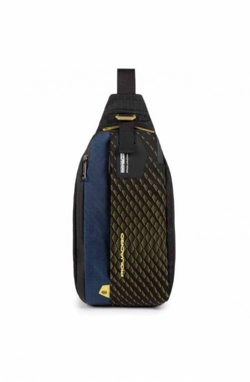 PIQUADRO Bag PQ-Y Male Mono sling Blue-Yellow - CA5117PQY-BLG