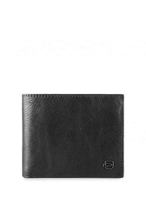 PIQUADRO Wallet Black Square Leather Black RFID - PU1239B3R-N