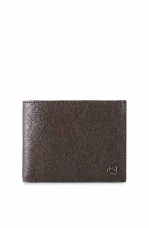 PIQUADRO Wallet Black Square Leather Brown RFID - PU1239B3R-TM