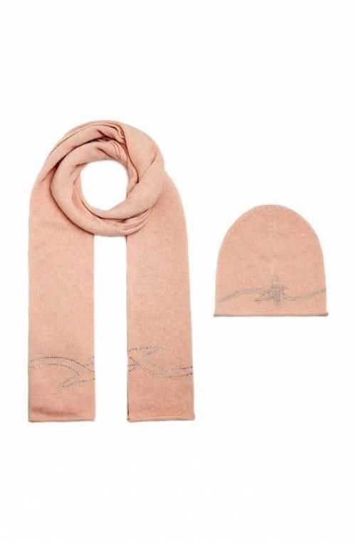 TRUSSARDI JEANS accessories Scarf + hat Pink Strass Wool mix - 59Y000049Y099997P050