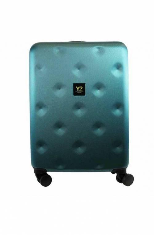 Trolley YNOT ROMBO verde smeraldo TSA lock + USB PLUG Unisex - ROM-12001S0-EMGREEN