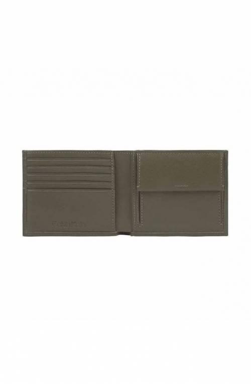 CALVIN KLEIN Wallet EUROPE Male Leather olive - K50K505973MRZ