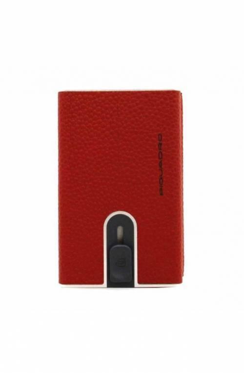 PIQUADRO porta tarjetas de crédito Compact wallet Hombre rojo - PP4891W92R-R2
