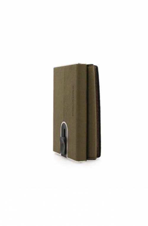 PIQUADRO porta tarjetas de crédito Compact wallet Hombre verde - PP4891W92R-VEBE