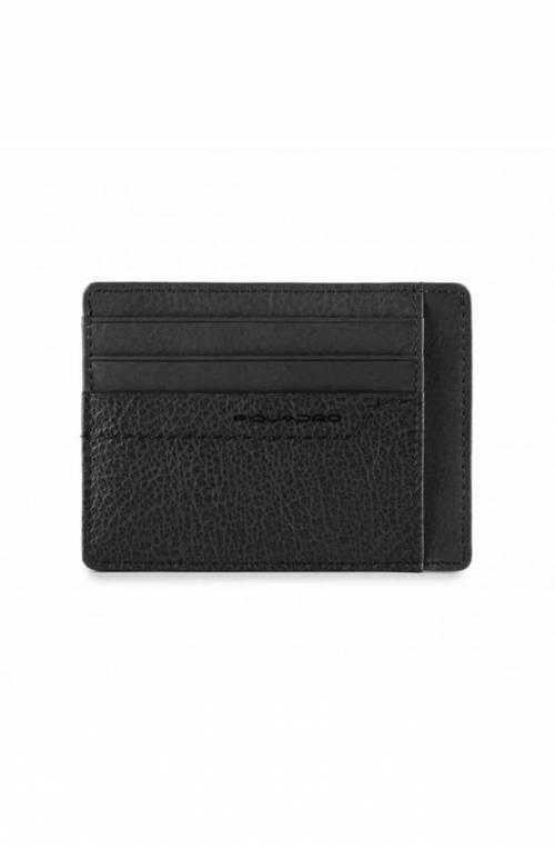 PIQUADRO porta tarjetas de crédito Unisex Cuero Negro - PP2762S94R-N