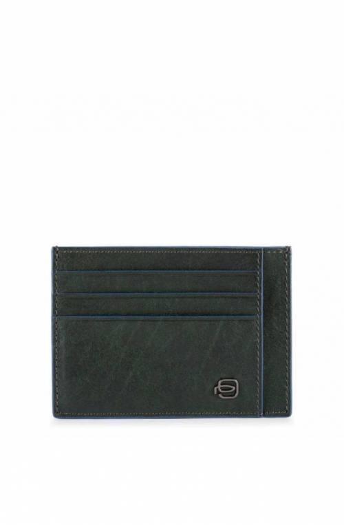 PIQUADRO Kartenhalter B2S Grün Leder - PP2762B2SR-VE