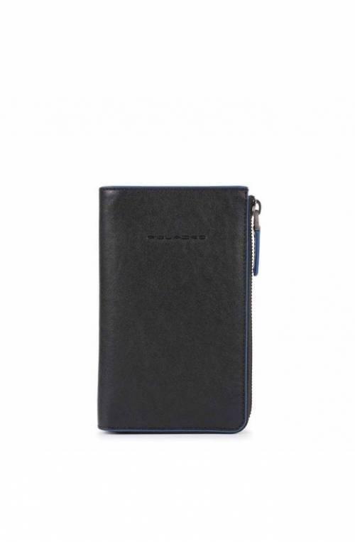 PIQUADRO Wallet B2S Unisex Leather Black - AC5469B2SR-N